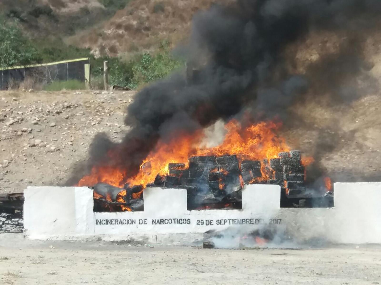 PGR incinera droga en Morelos