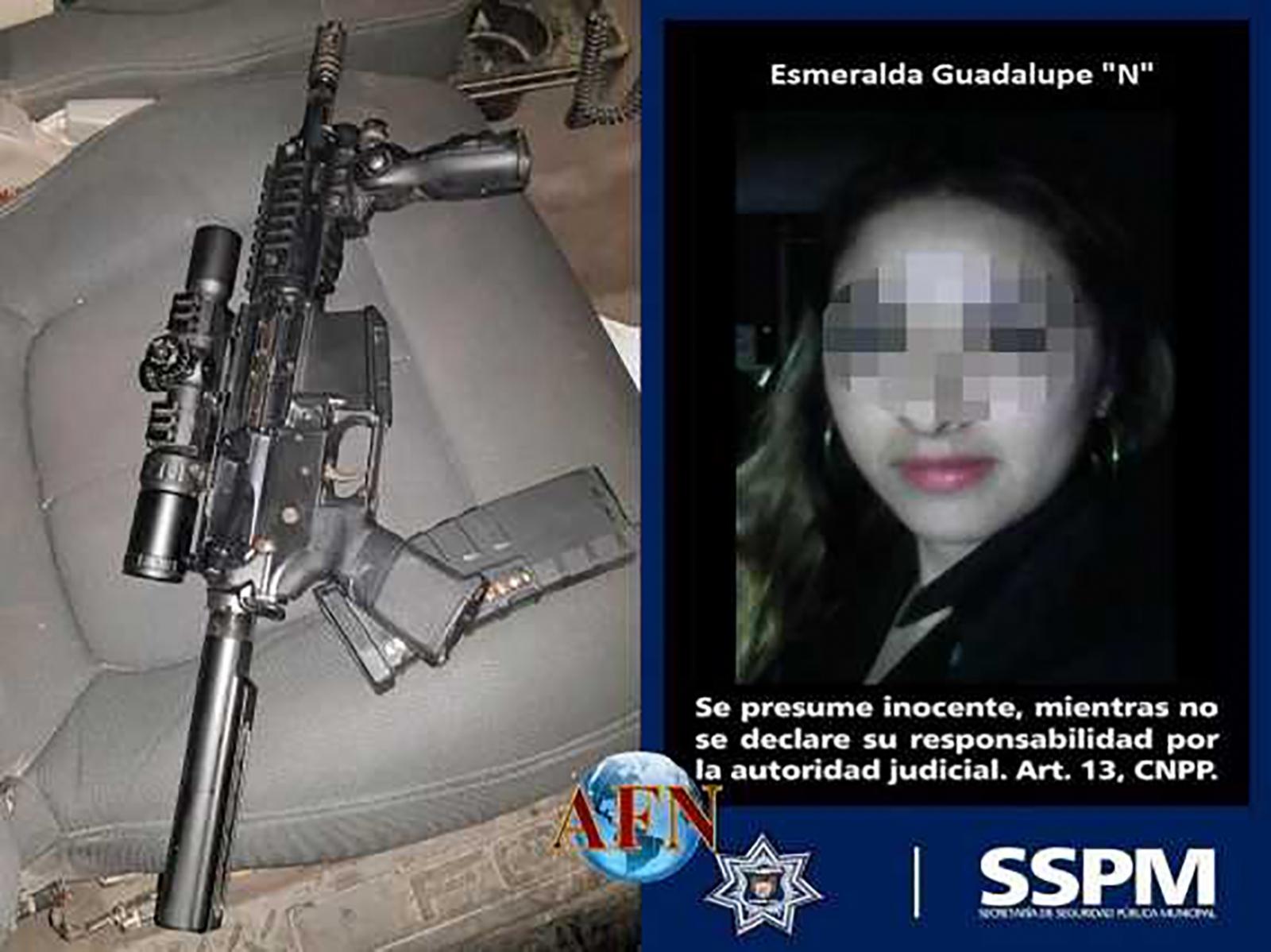 Detienen a mujer con fusil AR15