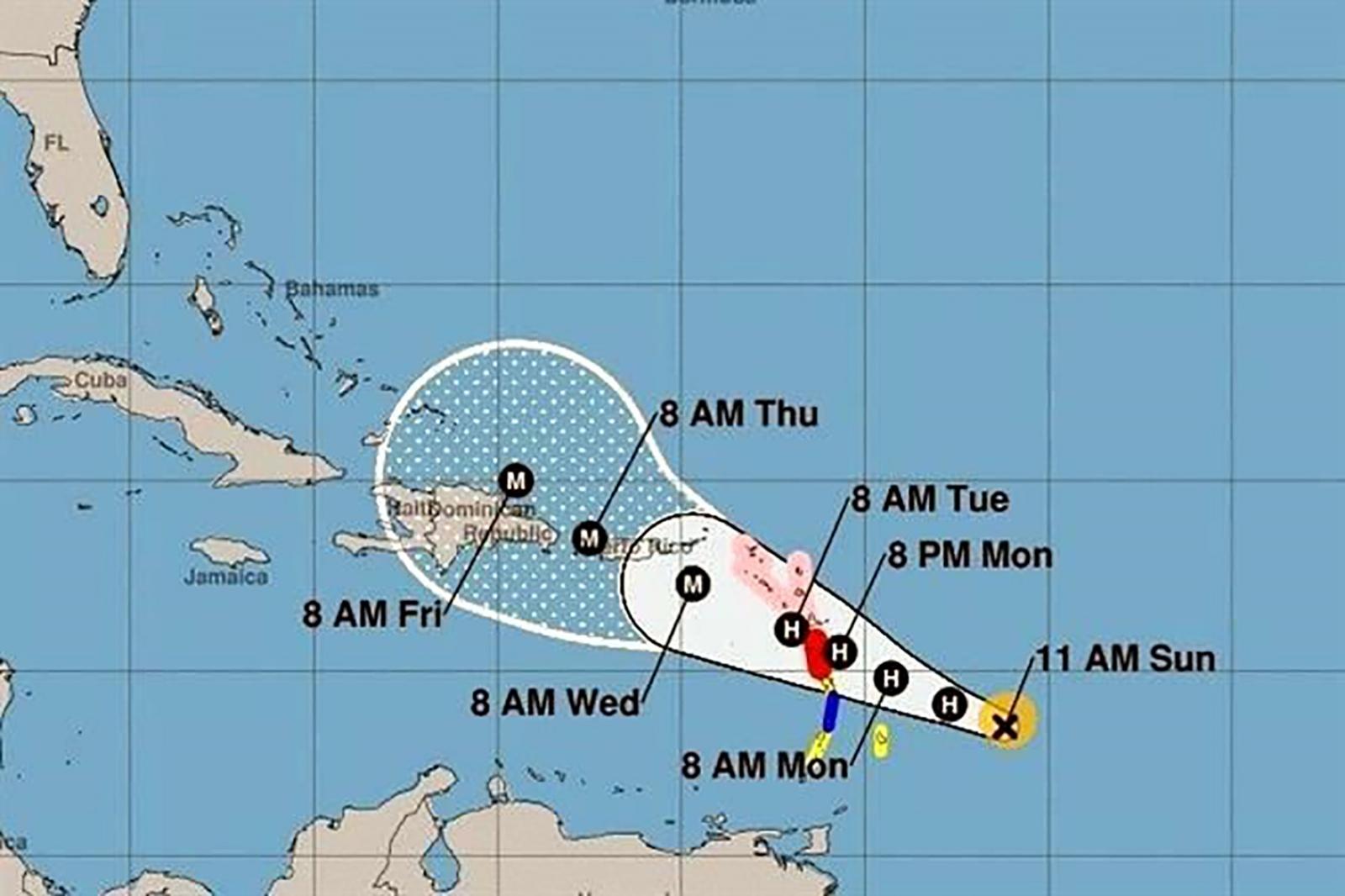 'María' se convierte en huracán categoría 4