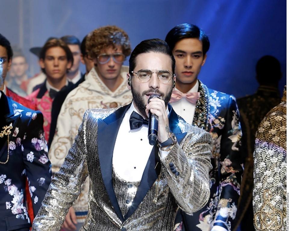 Maluma y el error que comete en el desfile Dulce & Gabanna