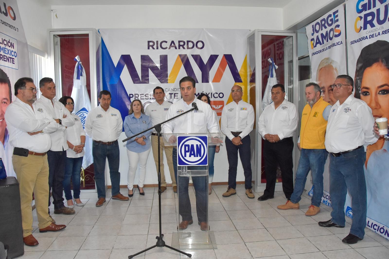 Rechaza Ricardo Anaya hacer un frente contra López Obrador