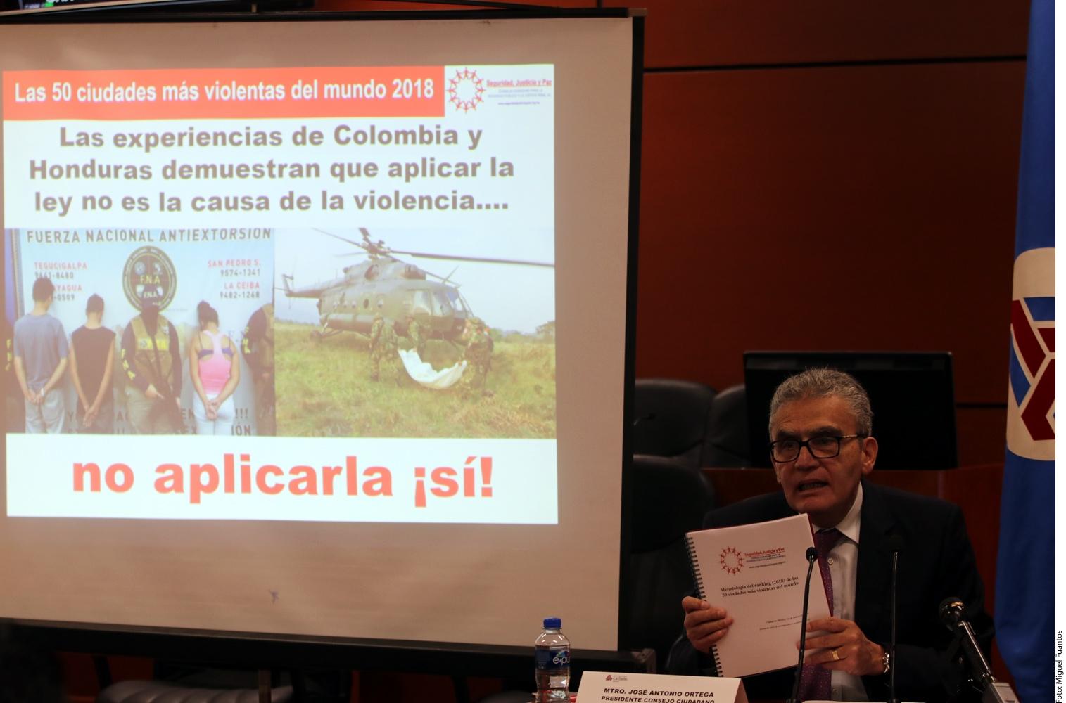 México tiene las 5 ciudades más violentas del mundo: Antonio Ortega