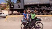 Llega ciclista Bertha Corte a Santa Rosal�a