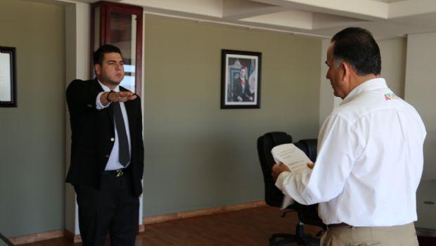 Rinde protesta nuevo subdirector de Profesionalización y Desarrollo de la DSPM