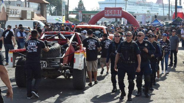 Continúa Seguridad Pública Municipal con Operativo Baja 1000