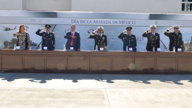 Participa alcalde Marco Novelo en ceremonia de conmemoración por el día de la Armada de México