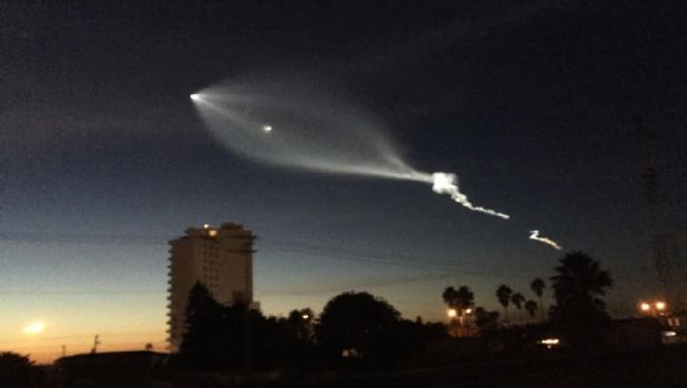El lanzamiento del cohete SpaceX se observa en el noroeste de Baja California