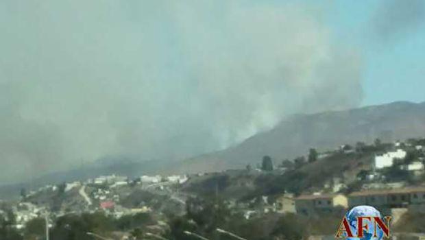 Registran incendios en Tijuana