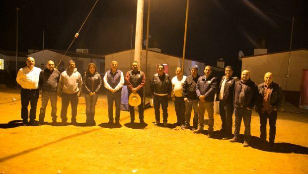 Supervisa Marco Novelo red de electrificación en Punta Colonet