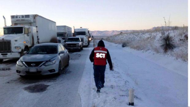 Reabren vías del norte tras nevadas