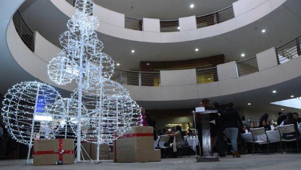 Encienden árbol de Navidad en Casa Municipal