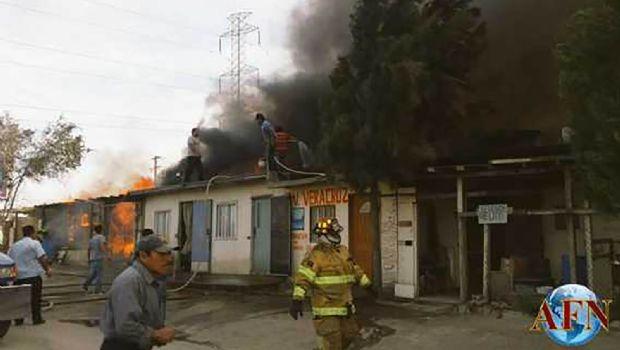 Arden casas en Tijuana