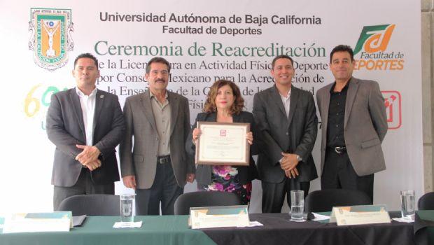 Reacreditan calidad de la Licenciatura en Actividad Física y Deportes de UABC