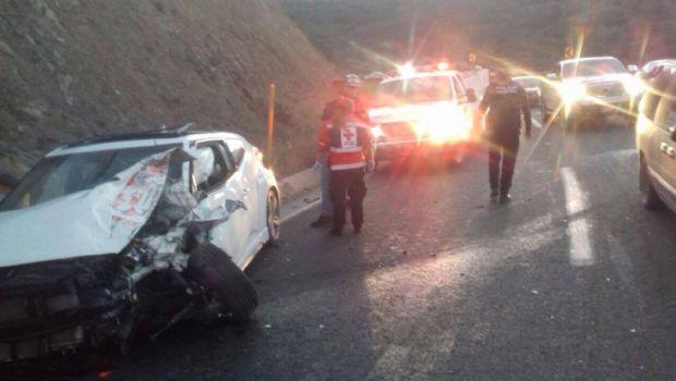 Reportan lesionados por choque múltiple rumbo a la Ruta del Vino