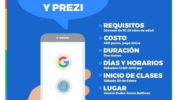 Brindarán curso  de Google Apps