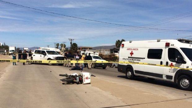 Muere repartidor accidentado en Maneadero