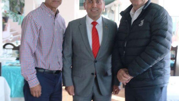Visita diputado a los alcaldes de  Tecate y Ensenada