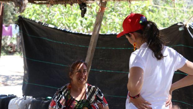 Génesis Márquez en el Ejido Uruapan