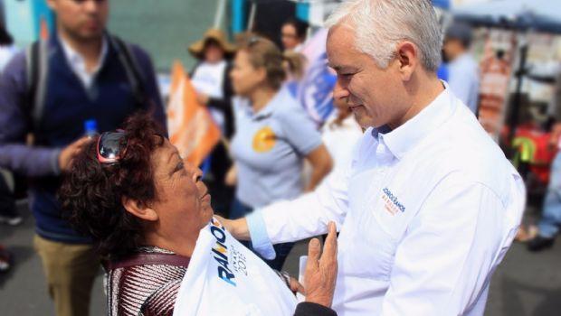 Refrendan apoyo a Jorge Ramos en colonia Francisco Villa