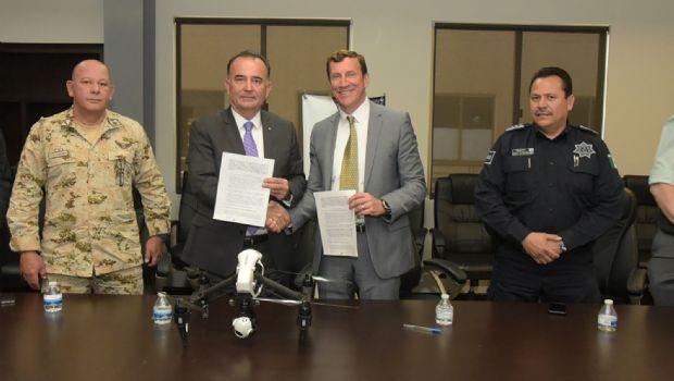 Pacta Ayuntamiento con CAPE  para usar drones en vigilancia