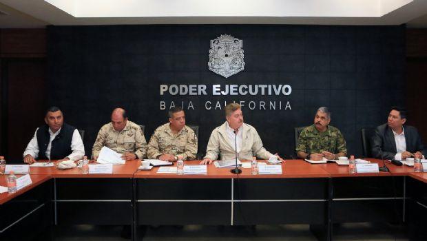 Encabeza gobernador Francisco Vega reunión con Grupo en Coordinación de Seguridad