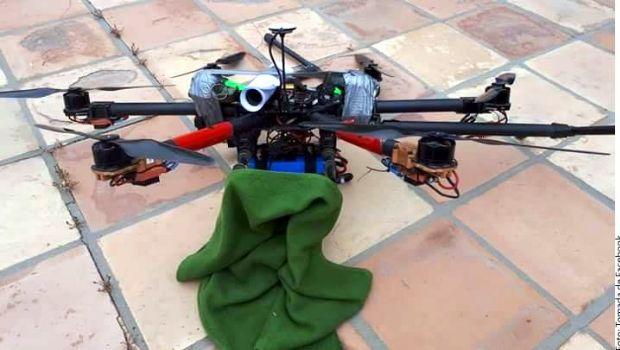 Se desploma dron con dos granadas