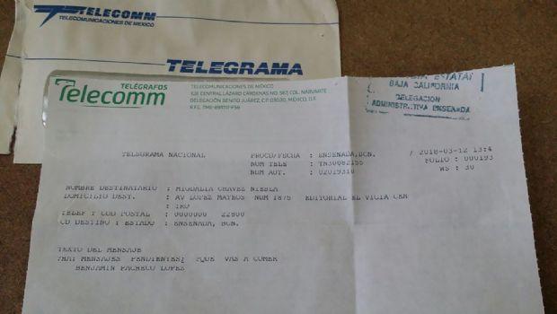 Mandar un telegrama en el siglo XXI