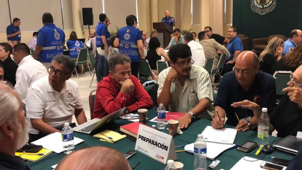 Participa Protección Civil de Ensenada en capacitación