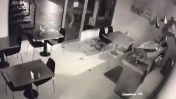 Provocan destrozos en local por intento de robo