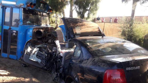 Cuatro lesionados por choque en San Quintín