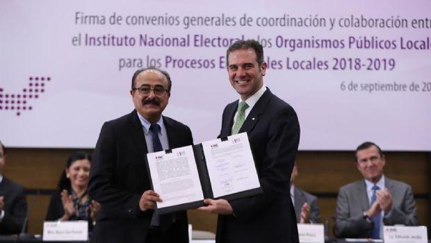 Firman pacto por  elecciones 2019