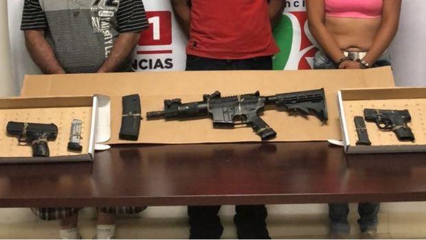 Incauta PEP armas y detiene a tres sujetos
