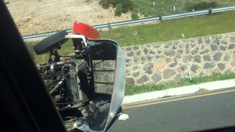 Ocurren dos accidentes en carreteras